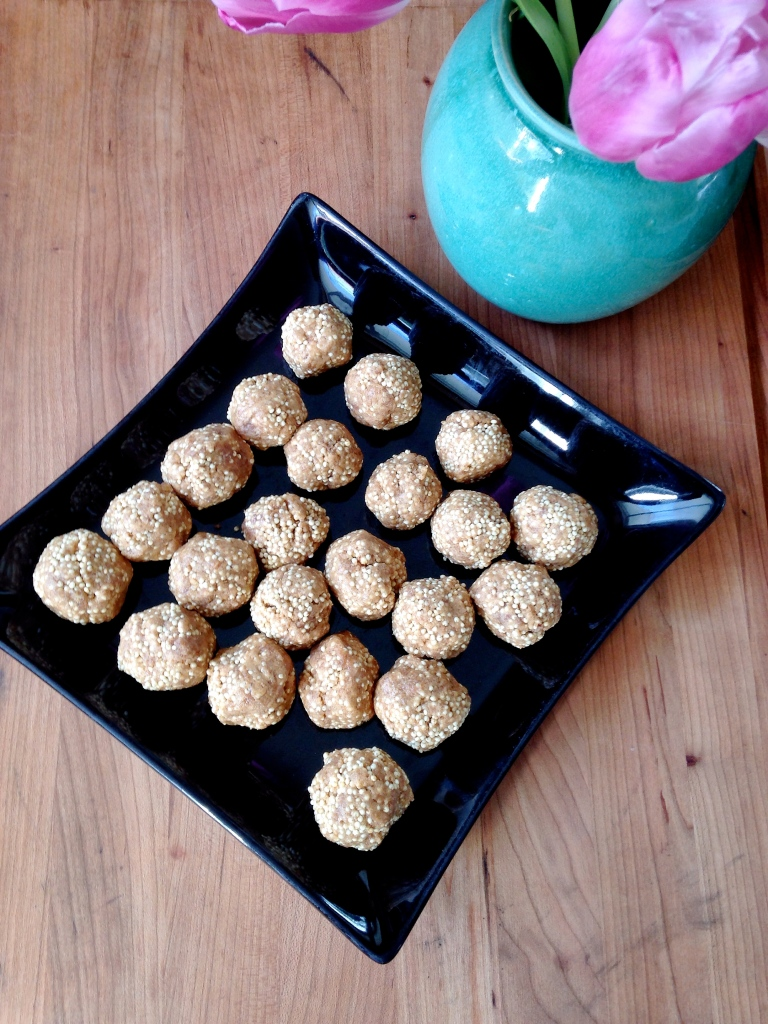 Peanut Butter Balls with Millet